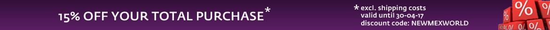 15% off code:NEWMEXWORLD